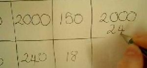 Multiply 2 digit numbers using the grid method