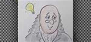 Draw a cartoon Benjamin Franklin from the number 100