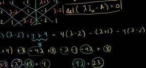 Determine the eigenvalues of a 3x3 matrix