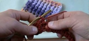 Crochet a single rib stitch for left handers