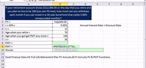Calculate monthly retirement income in Microsoft Excel