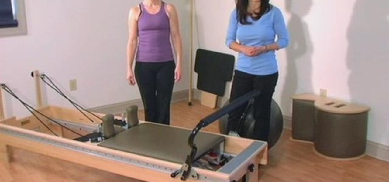 how to exercise your shoulder with a pilates reformer machine pilates wonderhowto - Pilates Reformer Machine