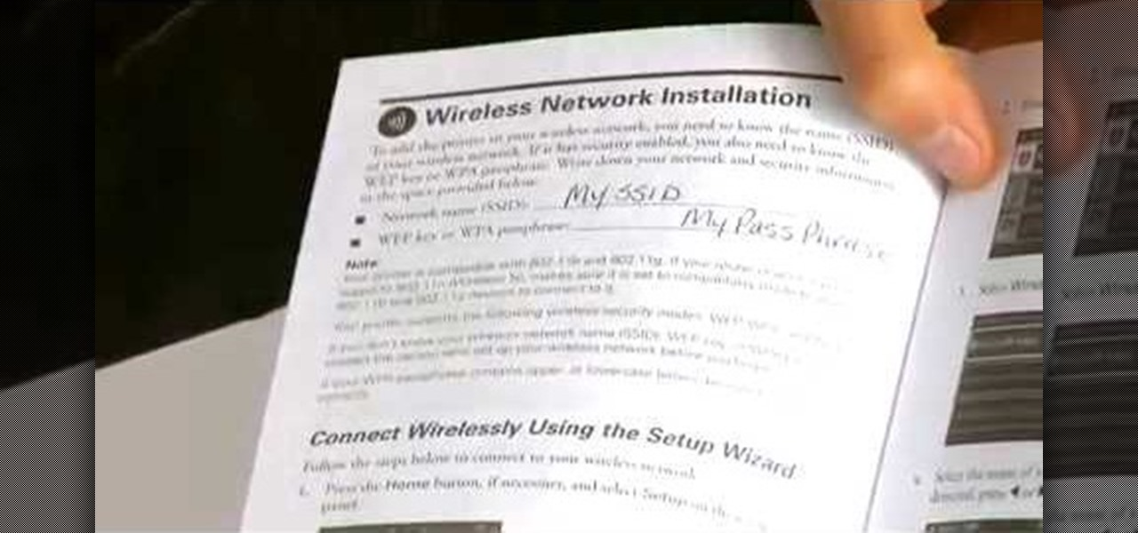 How to Set up an Epson printer wirelessly « Computer