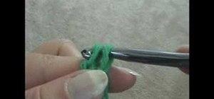 Crochet a chainless single crochet foundation