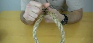 Use the common rope seizing knot
