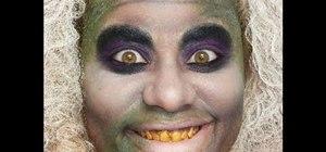 Create a ghoulish Beetlejuice makeup look for Halloween