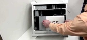Repair a Power Mac G5 - Remove side case and fan