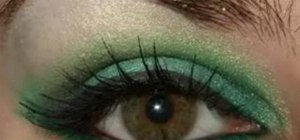 Create a forest nymph smoky green eye makeup look