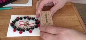 Make quilled Christmas bells for a card