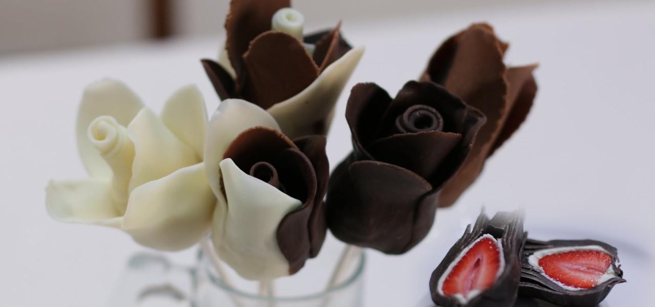 Make Chocolate Strawberry Roses