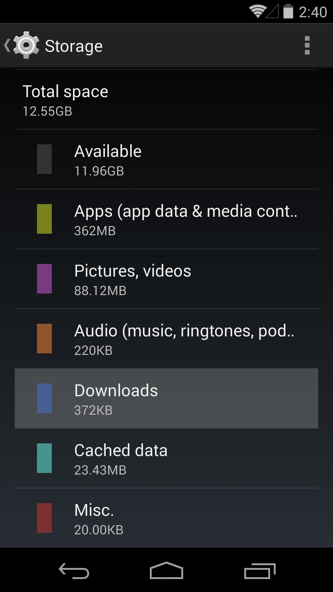 how to delete downloads on android phone