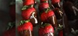 Make chocolate dipped strawberries for dessert