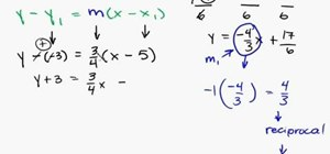 Find the perpendicular line to a given equation