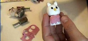 Make a polymer clay Hello Kitty doll
