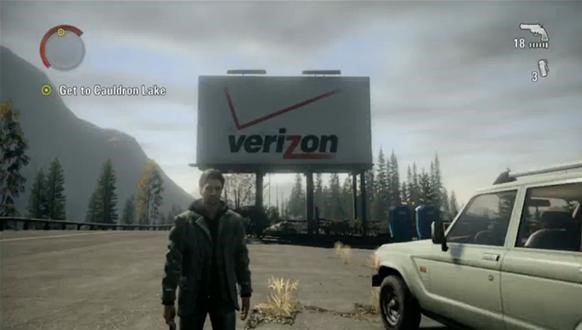 Advertising in Alan Wake