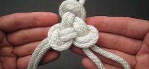 Tie a triskelion knot