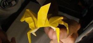 Origami a winged horse