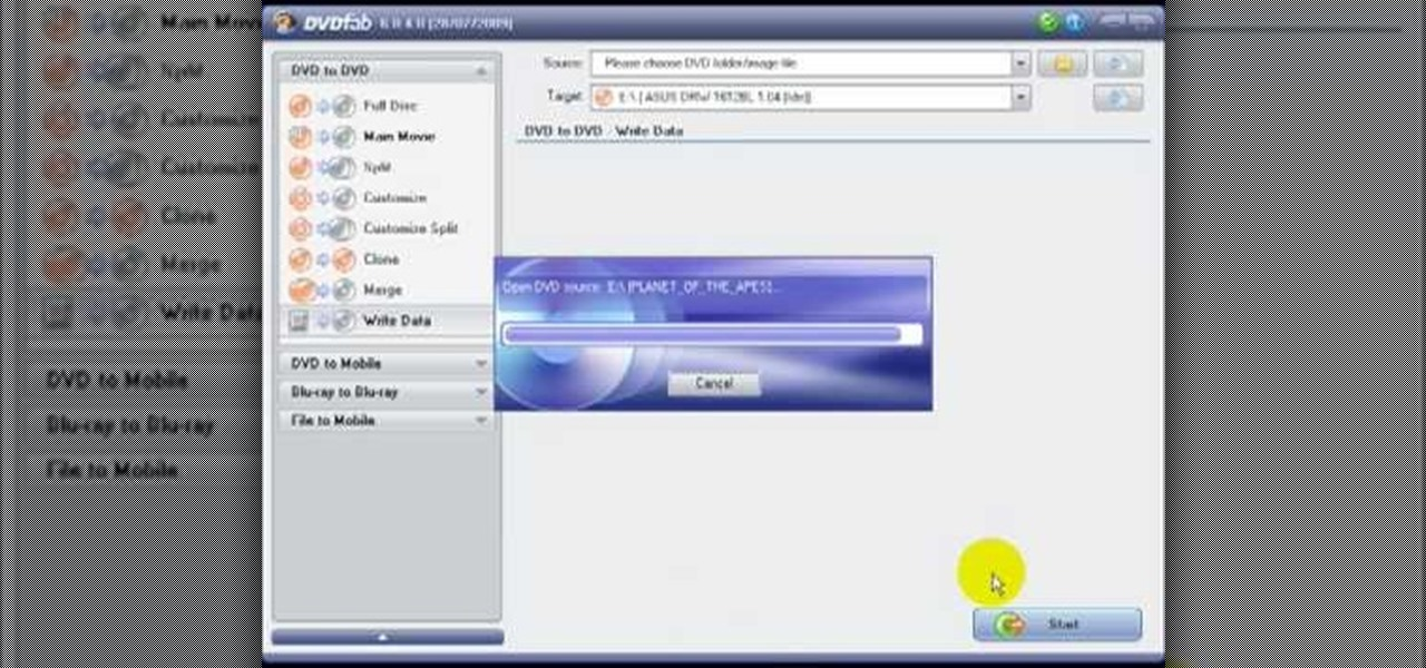 How to Copy DVDs and burn Blu-Ray discs with DVDFAB 6 « Software