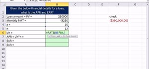 Calculate APR and EAR given cash flows from annuity in Excel