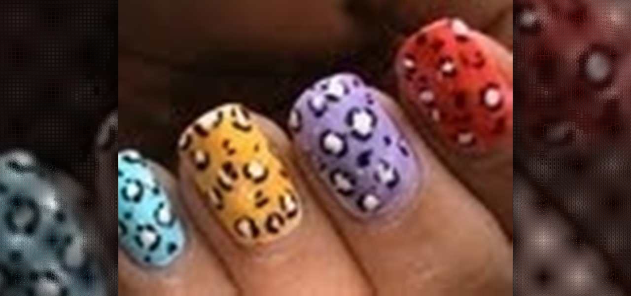Do Colorful Leopard Nails