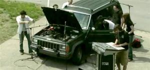 Old Jeep Cherokee Makes Techno Music