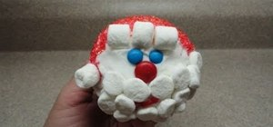 Decorate a very simple festive Santa cupcake for Christmas