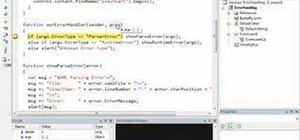 Handle web application errors with Silverlight