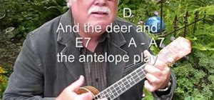 "Play ""Home on the Range"" on the ukulele"