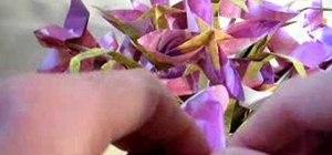 Origami a violet flower