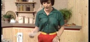 Make a sponge cake with a vintage BBC cooking clip