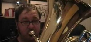 Play in the high register on the tuba