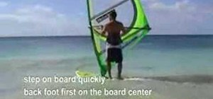 Do a windsurfing beach start