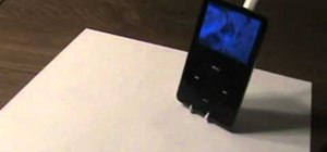 Make a quick and easy iPod stand out of a plastic fork