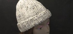 Crochet a full-sized stocking hat using a rib stitch