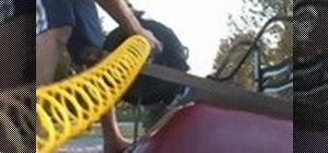 Inflate a wheelbarrow tire