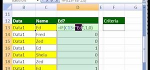 Create a simple IF function formula with text in Excel