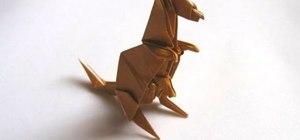 Origami an Engel kangaroo