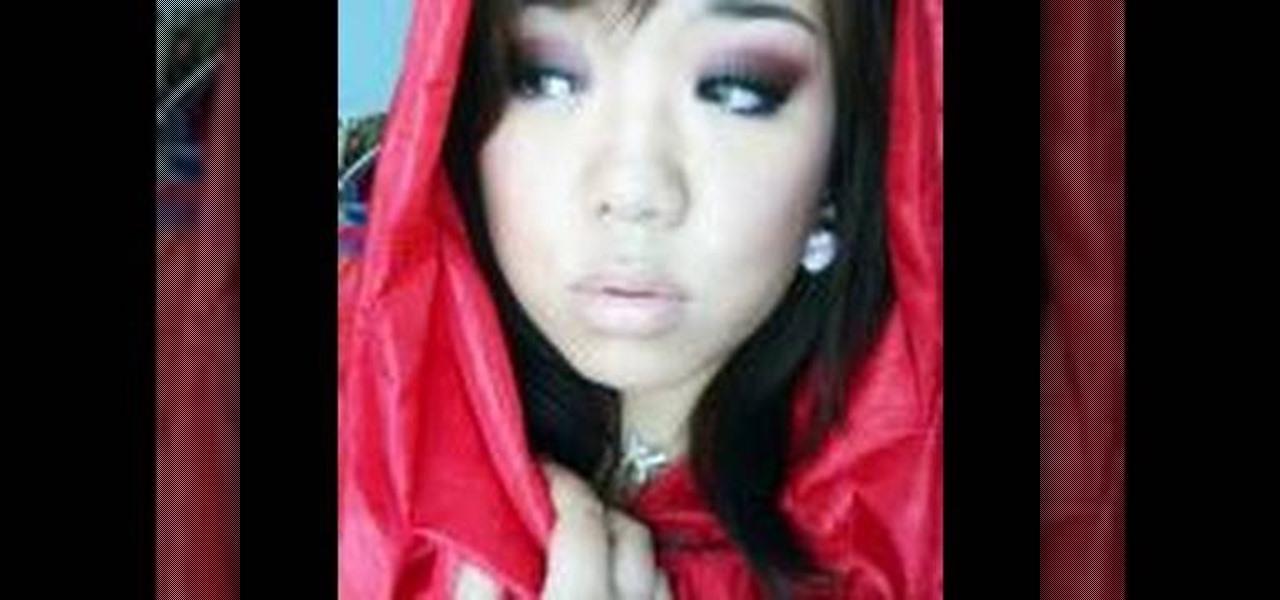 Dark Little Red Riding Hood Makeup Look
