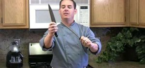 Properly use a knife steel to straighten and sharpen your kitchen knife