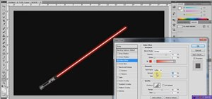 Create a realistic, glowing Jedi lightsaber in Photoshop