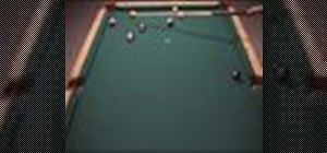 Use reverse English to stop cue ball motion in pool