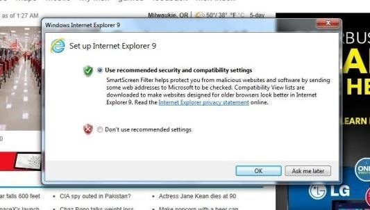 How to Upgrade and Run IE - Beginners