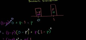 Calculate mean and variance for a Bernoulli distribution
