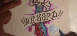 Draw a skull knife with Wizard
