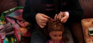 Do a single French braid on your American Girl Doll