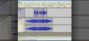 Automate the volume of an audio track with the Audacity Envelope Tool