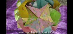 Fold a portion of a 3D origami kusudama rose