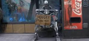 Homeless Terminator Goes Postal on Apple