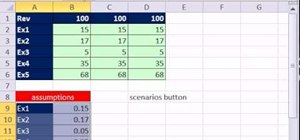 Add a scenario button to a ribbon or toolbar in Excel