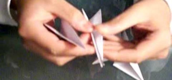 how to make a paper kunai knife throwable